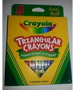 8 CRAYOLA TRIANGULAR Crayons Anti-roll  Brand N... - $4.94