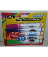New 10 Color CraZArt Washable Dry Erase Broad L... - $9.89