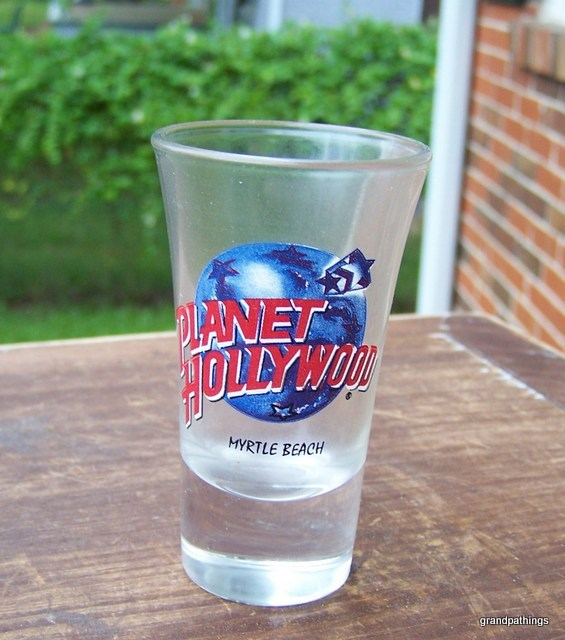 Planet Hollywood MYRTLE BEACH shot glass vintage/new  Lot 262
