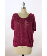 Anthropologie Moth Purple Cable Knit Open Stitc... - $23.16