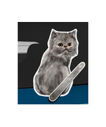 Grey Persian cat rear window wiper wagging tail... - $12.99