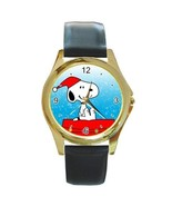 SNOOPY IN SANTA HAT ON DOGHOUSE CHRISTMAS GOLD ... - $24.99