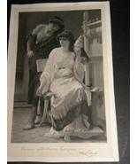 Antique Engraving Lucrece And Sextus Tarquin Al... - $9.99