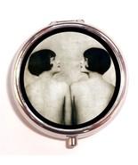 Flappers Pill Box Case Pillbox Bob Haircuts Art... - $7.43
