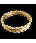 FABULOUS Vintage 1980's GIVENCHY Gold Bangle Br... - $61.75