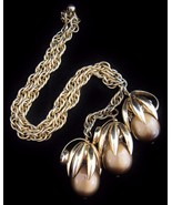 RARE Vintage NAPIER Moonglow Bauble Necklace (f... - $166.25