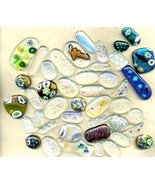 Dichroic Fused Glass Cab Lot - $6.03