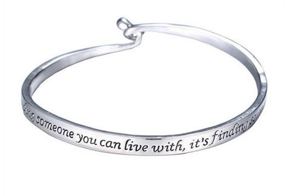 silver engraved inspirational cuff bangle bracelet bracelets. Black Bedroom Furniture Sets. Home Design Ideas