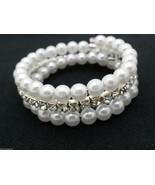 Girls Pearl Bracelet Beaded Age 4-8 Safe Lead F... - $8.88