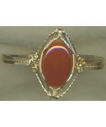 Carnelian Gold Wire Wrap Bracelet 1 - $142.63