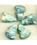 Chinese Turquoise Frog Carvings Lot 6 - $12.94