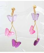 Avon Bohemian Acrylic Butterfly Earrings - $12.95