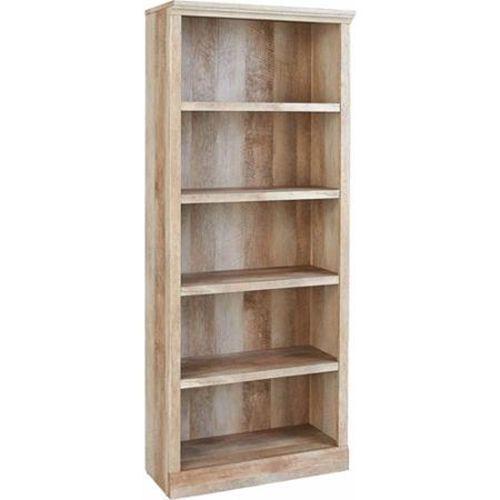 5 shelf bookcase 3 adjustable wood shelves storage. Black Bedroom Furniture Sets. Home Design Ideas