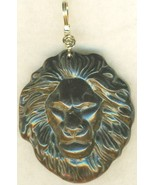 Carved Tigereye Lion Gold Wire Wrap Pendant 67 - $37.99