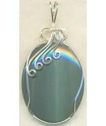 Silver Sheen Obsidian Silver Wire Wrap Pendant 27 - $54.98
