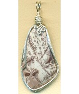 Sonoran Dendritic Rhyolite Silver Wire Wrap Pen... - $54.98