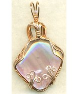Rainbow Fluorite Copper Wire Wrap Pendant 15 - $27.93