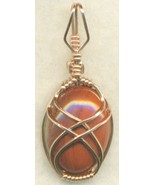 Red Jasper Copper Wire Wrap Pendant 11 - $27.93