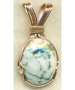 Tree Agate Copper Wire Wrap Pendant 10 - $27.93