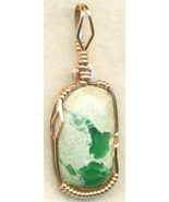 Variscite Copper Wire Wrap Pendant  22 - $27.93