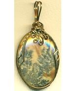 Dendritic Jasper Antique Bronze Copper Wire Wra... - $19.53