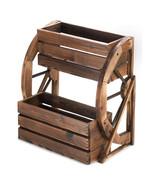 Wagon Wheel Double-Tier Planter - $68.00