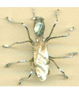 Abalone Shell Spider Stainless Steel Wire Wrap ... - $31.99