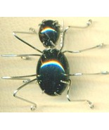 Black Onyx Spider Stainless Steel Wire Wrap Bro... - $15.99