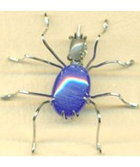 Blue Cateye Spider Stainless Steel Wire Wrap Br... - $31.99