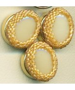 Faux Ivory Beaded Button Covers 5 - $9.97