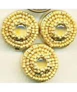 Citrine Beaded Button Covers 6 - $19.90
