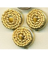 Tiger Eye Beaded Button Covers 7 - $19.90