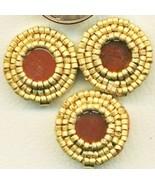 Carnelian Beaded Button Covers 8 - $9.97