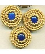 Lapis Beaded Button Covers 9 - $9.97