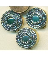 Blue Agate Beaded Button Covers 14 - $19.90