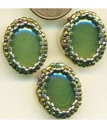 Faux Jade Beaded Button Covers 15 - $19.90