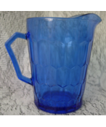 Vintage HAZEL ATLAS Cobalt Blue Honeycomb Pitch... - $5.00