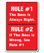 THE BOSS IS ALWAYS RIGHT Novelty Sign gift offi... - $6.88