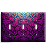 DAMASK PURPLE LUXURY ORNAMENT TRIPLE LIGHT SWIT... - $15.99