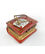 Limoges Box - Rochard Leather Book with Letter ... - $89.00