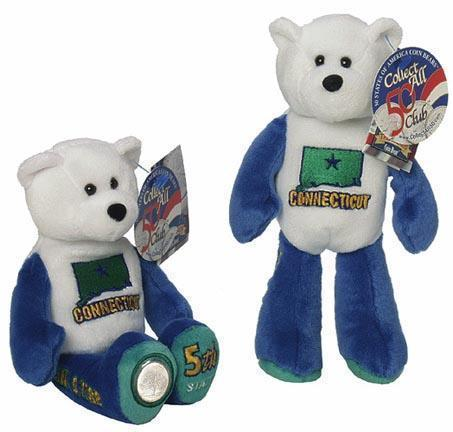 State Quarter Coin Bears Connecticut Limited Edition 1999