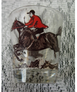 Vintage Horse, Rider, and Hound Fox Hunt Shot G... - $5.00