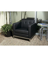 Wall Street Avenue Six BLACK Faux Leather Arm C... - $245.99