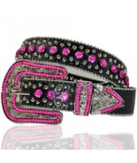 Cowgirl Hot Pink Rhinestone Western Buckle Stud... - $46.99