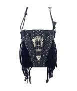 Western Rhinestone Buckle Fringe Messenger Bag ... - $35.99
