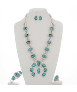 Navajo Sterling Silver BISBEE Turquoise Squash ... - $1,979.01