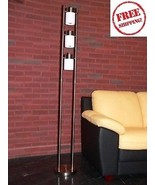 Contemporary Pillar Floor Lamp Modern Light Chr... - $74.23