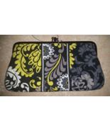 Vera Bradley Yellow, Black, Gray & White Clutch... - $24.99