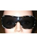 New Womens Valentino Sunglasses Shield Black & ... - $89.99