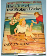 Nancy Drew #11 Clue of Broken Locket Orig Text DJ - $9.99